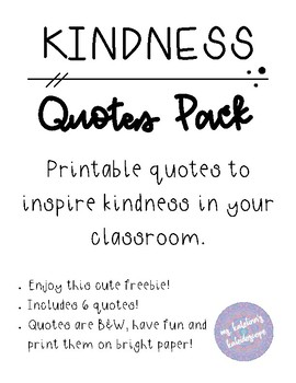 FREEBIE Kindness Quotes Pack