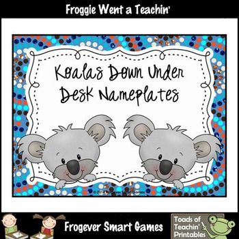 FREEBIE-Koalas Down Under Desk Nameplates