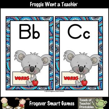 "Word Wall Headers/Sorting Mats--""Koalas Down Under"""