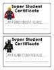 FREEBIE LEGO Super Student Certificate