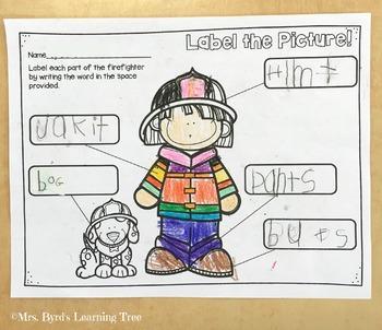 FREEBIE - Label the Firefighter
