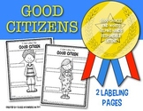 FREEBIE! Label Good Citizens: Kindergarten & First Grade Social Studies