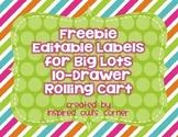 FREEBIE Labels for Ten-Drawer Rolling Cart