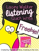 FREEBIE Lacey Walker, Nonstop Talker Quick Write