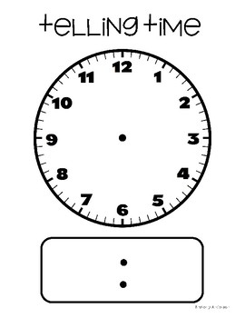 FREEBIE: Large Blank Clock