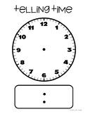 FREEBIE: Large Blank Clock