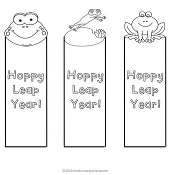 FREEBIE: Leap Year Coloring Pages & Bookmarks