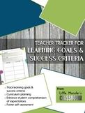 **FREEBIE** Learning Goals & Success Criteria Graphic Organizer for Teachers