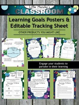 **FREEBIE** Learning Goals & Success Criteria Graphic Organizer for Teachers