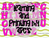 FREEBIE - Learning and Printing My ABC's (Letter E)