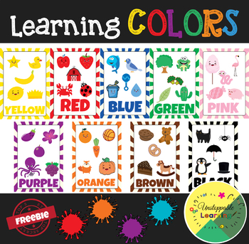 FREEBIE. Learning colors POSTERS