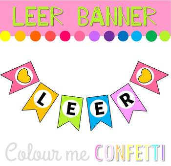 FREEBIE Leer Banner Display - Colour me Confetti