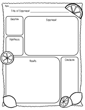 {FREEBIE} Lemon/Lime Lab Sheet (1 Page) {Scientific Method Lab Sheet}