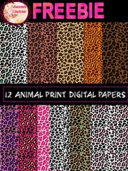 FREEBIE Leopard Print Digital Paper/ Clipart
