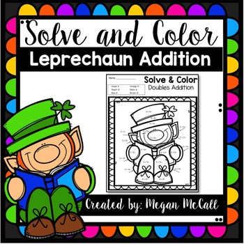 FREEBIE Leprechaun Addition Coloring Pages