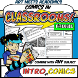FREEBIE Lesson: Introduction to Comics (w. Graphic Novel Journal Pages!