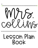FREEBIE! Lesson Plan Book Cover Page! (Editable)