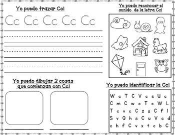 FREEBIE:  Letras Fabulosas Spanish Alphabet Practice Letters A-G