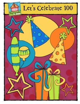 FREEBIE Let's Celebrate 100 {P4 Clips Trioriginals Digital Clip Art}