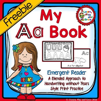 """FREEBIE Letter A """"I can read"""" booklet for letter recogniti"""