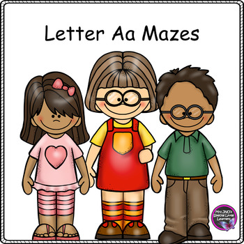 FREEBIE Letter A Mazes Worksheets