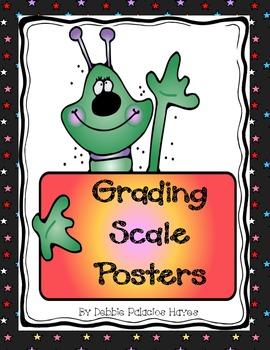 Grading Scale Posters - Alien Themed FREEBIE!