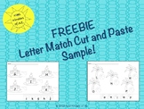 FREEBIE - Letter Match Cut and Paste Sample
