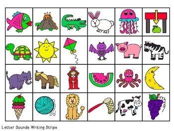 FREEBIE Letter Names & Sounds Writing Strips Sets