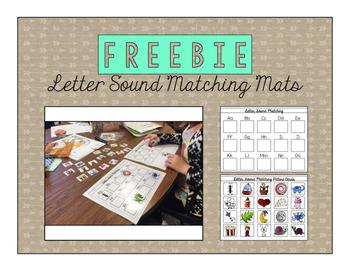 FREEBIE Letter Sound Matching Mats