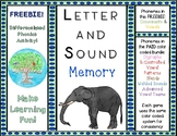 FREEBIE Letter Sound Memory Game