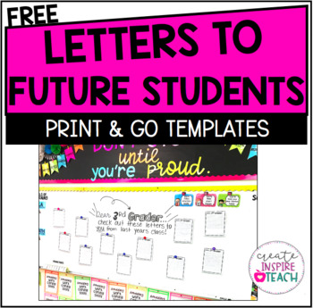 FREEBIE - Letters to Future Students