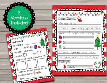 FREEBIE Letters to Santa - Two Templates Included!