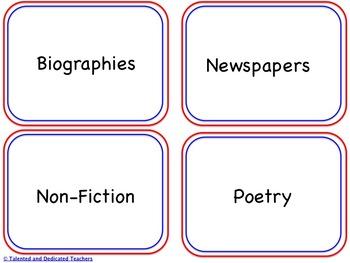 FREEBIE! Library Book Bin Labels
