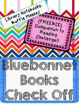 {FREEBIE} - Library Notebooks Bluebonnet Books Check Off
