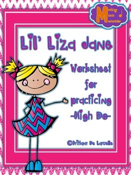 FREEBIE - Lil' Liza Jane - Worksheet Freebie