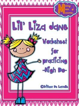 FREEBIE - Lil' Liza Jane - Worksheet Freebie