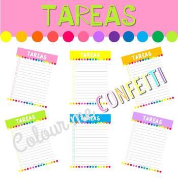 FREEBIE Lista de tareas - Colour me Confetti