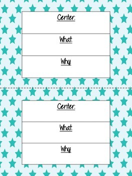 *FREEBIE*  Literacy Center Objective & Rationale Signs (summer fun colors)