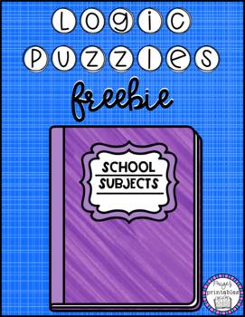 FREEBIE Logic Puzzle - School Subjects