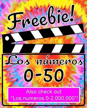 """FREEBIE! """"Los Numeros 0-50"""""""
