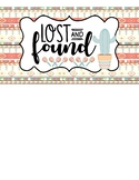 FREEBIE: Lost & Found Sign #2