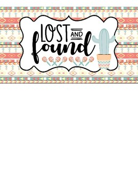 FREEBIE: Lost & Found Sign #2