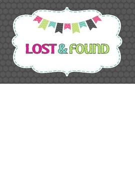 FREEBIE: Lost & Found Sign