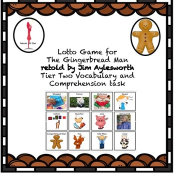 FREEBIE Lotto Game for The Gingerbread Man by Jim Aylesworth