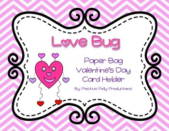 FREEBIE! Love Bug Craftivity for Valentine's Day Bags