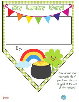 FREEBIE Lucky Day Pennant Banner Worksheet