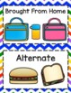 FREEBIE! Lunch Count Labels