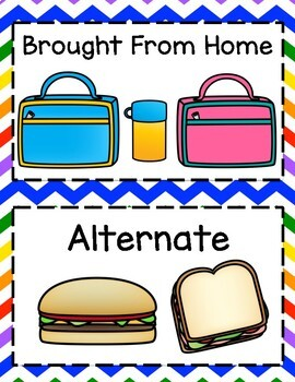 FREEBIE! Lunch Count Labels Rainbow Theme ~ Back to School