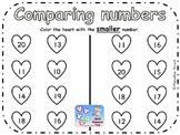 FREE COMPARING NUMBERS WORKSHEET KINDERGARTEN