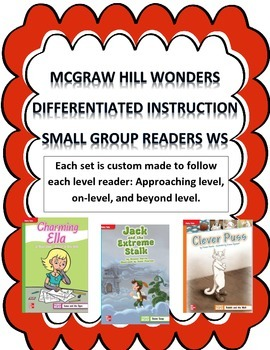 *FREEBIE* MCGRAW HILL WONDERS Unit 1, Week 1 Gr. 4 Small Group Reader Worksheets